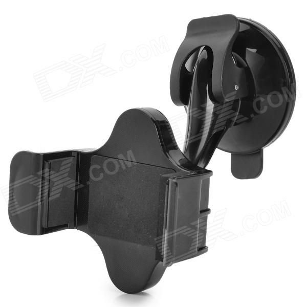 360 Degree Rotatable Car Suction Cup Mobile Phone Mount Holder for IPHONE + More - Black
