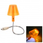 USB Powered Flexible 6-LED White Light Lamp for PC - Light Orange + Silver