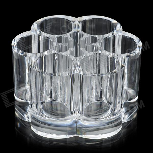 Stylish Crystal Cosmetic Organizer Case Dock - Transparent