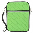 "Protective Soft High Foam Sleeve Bag for 9.7"" Tablet PC - Green + Black"