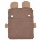"Cute Rabbit Style Plush Sleeve Bag for 9.7"" Tablet PC  - White + Coffee"