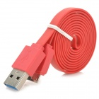 USB Data/Charging Flat Cable for Samsung Galaxy Note 3 N9000 - Red (100CM)