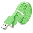 USB Male to Micro USB 3.0 B Type Male Charging & Data Sync Cable for Samsung Note 3 / N9000 - Green