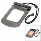 Universal Waterproof Plastic Bag w/ Strap for Mobile Phone - Black