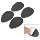 1-002 Anti-slip Rubber Sole Sticker Pad for Shoes - Black + White (2 Pairs)