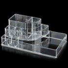 Convenient Desktop Plastic Cosmetics / Makeup Organizer Case - Transparent