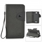MLT LLS39H Protective PU Leather + TPU Case w/ Hand Strap for Sony S39h Xperia CN3 - Black