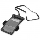 Protective Waterproof Bag w/ Strap / Armband for Samsung Galaxy Note 3 + More - Black