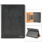Classic Flip-open PU Leather Case w/ Holder + Auto Sleep + Card Slot for IPAD AIR - Black + Brown