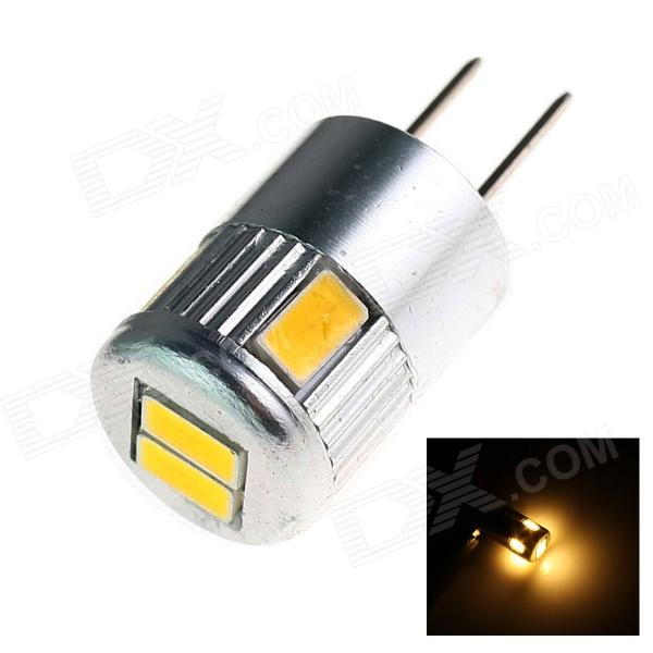 GCD F2 G4 3W 180lm 6 x SMD 5730 LED Warm White Light Car Lamp - (12V) - DXOther Car LED Bulbs<br>Color BIN Warm White Brand GCD Model F2 Quantity 1 Piece Material PCB Color OthersSilver Emitter Type OthersSMD 5730 LED Chip Brand NICHIA Chip Type 5730 Total Emitters 6 Power 3W Color Temperature 3500 K Theoretical Lumens 250 lumens Actual Lumens 180 lumens Rate Voltage 12V Waterproof Function No Connector Type G4 Application License plate lightClearance lampInstrument lampSignal lightReading lamp Certification CE Packing List 1 x G4 LED car Light<br>