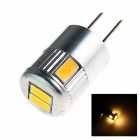 GCD F2 G4 3W 180lm 6 x SMD 5730 LED Warm White Light Car Lamp - (12V)