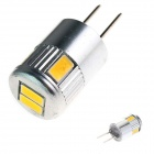 GCD F2 G4 3W 180lm 6 x 5730 lampe SMD LED voiture lumière blanche chaude - (12V)