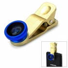 M-131 3-in-1 Clip Style Wide Angle + Macro + Fish Eye for IPHONE / Samsung - Golden