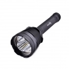 MarsFire 318 3-LED 5-Mode 2200lm White Flashlight - Black (2 / 3 x 26650)