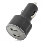 DINKY 12~24V Car Ciagrette Ligher Charger w/ Dual USB for IPHONE / Samsung - Black