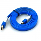 HDMI Male to Male HD Flat Cable - White + Blue (150cm)