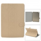 PUDINI Protective Flip-open PU Leather Case w/ Auto Sleep + Holder for RETINA IPAD MINI - Golden