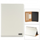 Classic Flip-open PU Leather Case w/ Holder + Auto Sleep + Card Slot for IPAD AIR - White + Brown