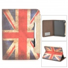 A-556 UK National Flag Style Protective PU Leather Case for iPad Air - Blue + Red + White