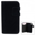 Buy Protective PU Leather Flip-Open Case Card Slots IPHONE 4 / 4S - Black