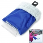 ABS Ice Scraper Snow Shovel w/ Warm Glove - Blue
