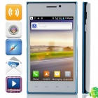 "E615(E15) SC6820 Android 4.2.2 GSM Bar Phone w/ 4.0"", FM and Wi-Fi - White + Blue"