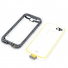 Protective Water Resistant Plastic Full Body Case for IPHONE 5 / 5S - White + Grey