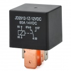 J1912 12V 80A 4 Wide Pin Car Power Relay - Black