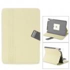 BASEUS LTAPMINI2-XY11 PU Smart Case w/ Stand for IPAD MINI 2 - Khaki