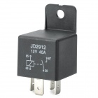 40A/12V 4-Pin Car Power Relay - Black