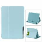 BASEUS Protective Smart PC + PU Leather Case w/ Holder for IPAD AIR - Light Blue