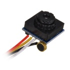 "205-MT mini CCTV CMOS 1/4 ""PAL / cámara de gran angular de audio-negro"