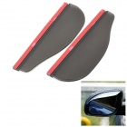 Car Rear-View Mirror Rainproof Blade - Translucent Black (Pair)