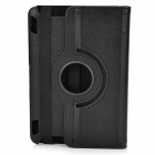 360 Degree Rotatable Protective PU Leather Case for Amazon Kindle Fire HDX7 - Black