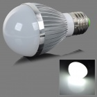 fengyangdengshi 007 E27 5W 180lm 6500K 5-LED White Light Bulb - Silver (12V)
