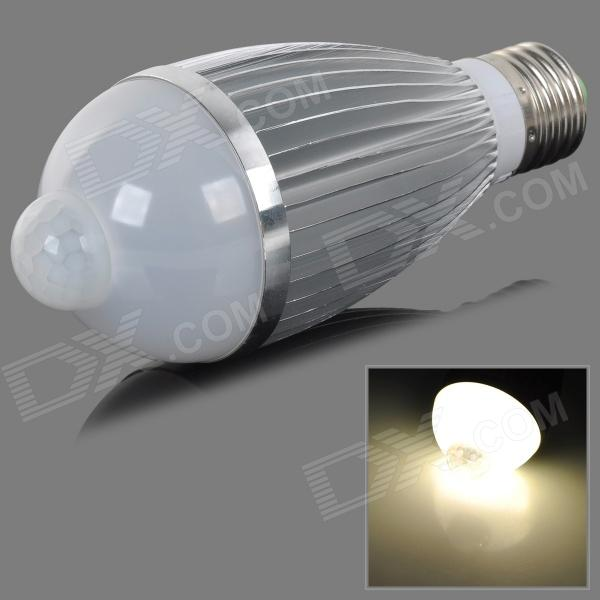 fengyangdengshi 014 E27 7W 240lm 7000K 7-LED Warm White Light Bulb - Silver (AC 85~265V) 5pcs e27 led bulb 2w 4w 6w vintage cold white warm white edison lamp g45 led filament decorative bulb ac 220v 240v