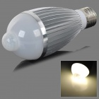 fengyangdengshi 014 E27 7W 240lm 7000K 7-LED Warm White Light Bulb - Silver (AC 85~265V)