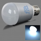 E27 7W 450lm 6000K 14-5730 SMD LED White Light Bulb - Silvery Grey + White (AC 85~265V)