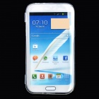 Protective Plastic Flip Open Case for Samsung Note 2 N7100 - Transparent