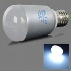 E27 9W 560lm 6000K 16-5730 SMD LED White Light Bulb - Silvery Grey + White (AC 85~265V)