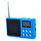 singbox 937 Portable 1.1'' LCD USB 2.0 1.0 Channel Speaker Radio w/ FM / U Disk / TF - Blue + Black