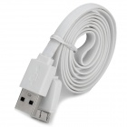 Micro USB 3.0 9pin Flat Charging / Data Cable for Samsung Note 3 / N9000 - White (100cm)