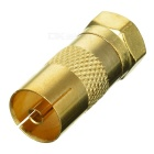 Gold Plated TV Antenna Plug Adapter/Converter