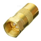 Gold Plated TV Antenna Plug Adapter / Converter - Golden
