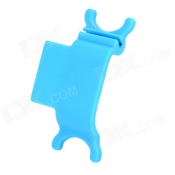 RX-01 Universal Earphone Mobile Phone Cables Organizer / Winder Stand - Blue