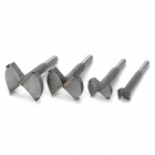 High-Speed Steel Drill Bit Set for Woodworking - Silver Grey (4 PCS)