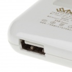 SXTX-01A Patent Slim Fast Charger USB Power Adapter - White (US Plugs / AC 100~240V)