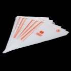 HONGHAI One-time DIY Cake Decoration Pastry Bag w/ Measure - White (100 PCS / Size-S)