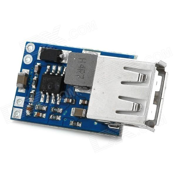 SJ-WYUCB DC 7.0~28 to 5V USB Voltage Step Down Regulator Module - Blue dc dc automatic step up down boost buck converter module 5 32v to 1 25 20v 5a continuous adjustable output voltage