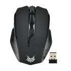 Jiete 3236 2.4GHz Wireless 1000~1600DPI Optical Mouse - Black